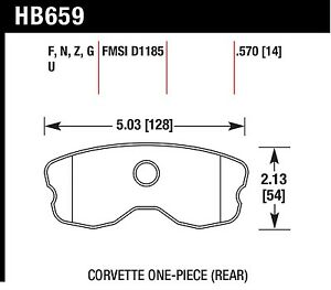 Hawk Performance Hb659z 570 Stable Friction Output Disc Brake Pads