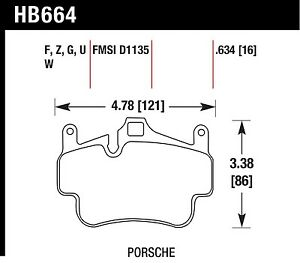 Hawk Performance Hb664z 634 Stable Friction Output Disc Brake Pads