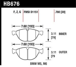Hawk Performance Hb676z 780 Stable Friction Output Disc Brake Pads