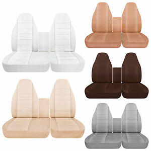 40 60 Highback Cotton Car Seat Covers Solid Colors Fits 1998 2003 Ford F150