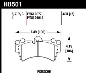 Hawk Performance Hb501g 625 Preferring Split Friction Levels Disc Brake Pads