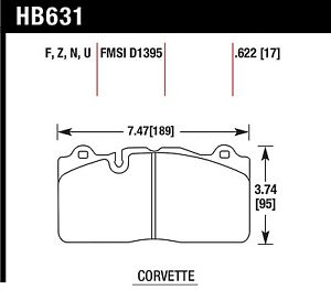 Hawk Performance Hb631z 622 Stable Friction Output Disc Brake Pads