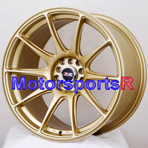 Xxr 527 18 X 9 75 20 Gold Rims Wheels 5x114 3 Concave Mitsubishi Evolution X Mr