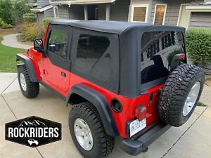 1997 2006 Jeep Wrangler Tj Black Soft Top Upper Skins And Tinted Rear Windows