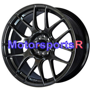 Xxr 530 18 Chromium Black Rims Staggered Wheels 5x114 3 Fit Nissan 350z Nismo