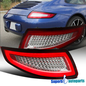 For Porsche 2005 2008 911 997 Carrera Targa Gt Turbo Red Led Tail Lamps