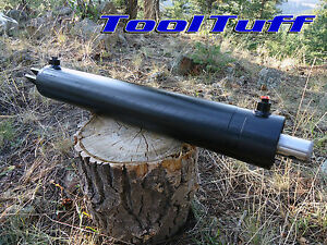 22 25 Ton Oem Hydraulic Log Splitter Cylinder Double Acting 4 Bore X 24 Stroke