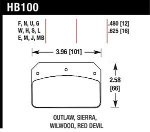 Hawk Performance Hb709z 630 Stable Friction Output Disc Brake Pads