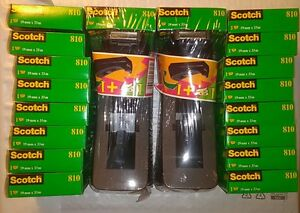Scotch Magic Tape 3 4 X 1296 Inches Lot Of 18 Rolls 810 3m France 2 Dispenser