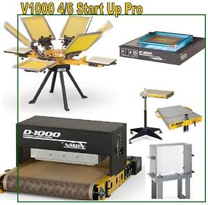Vastex V 1000 Screen Printing Press 4 Station 6 Color Start Up Proshop