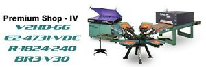 Vastex V 2000 Screen Printing Press 4 Station 6 Color Prem Shop 4