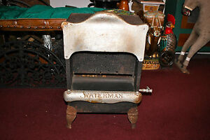 Antique Waterman Gas Stove Heater Metal Country Decor Americana Small Size