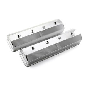 Chevy Sbc 350 Center Bolt Anodized Fabricated Valve Covers Tall W O Hole Prem