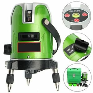 Green Laser 5 Line 6 Point Level 360 Rotary Infrared Laser Line Self leveling