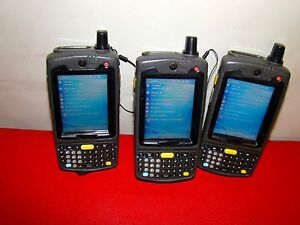 Lot Of 3 Motorola Symbol Pocket Barcode Scanner Mc70 Mc7094 P2cdcqha86r