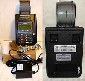 Hypercom T7p Credit Card Terminal No Contract Required Keypad Power Supply