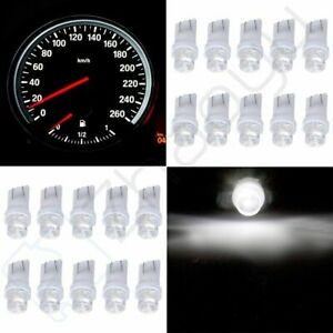 20x Dash Gauge Cluster Panel White Led Light Bulbs T10 W5w 168 194 For Toyota