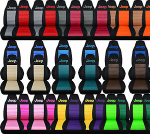 Cc Car Seat Covers Front Set Fits Jeep Wrangler Yt Tj Lj Jk 25 Color
