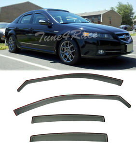 For 04 08 Acura Tl In Channel Style Side Window Visors Rain Guards Jdm