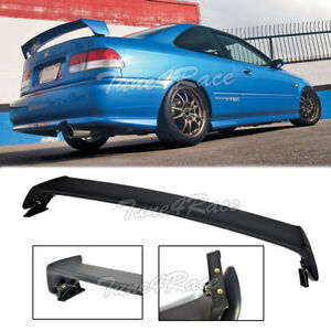For 96 00 Honda Civic Mugen Style Rear Wing Trunk Spoiler Abs Plastic 2dr Coupe