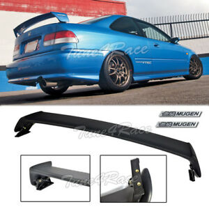 For 96 00 Honda Civic Mugen Style Trunk Wing Spoiler 2dr Coupe W Black Emblems
