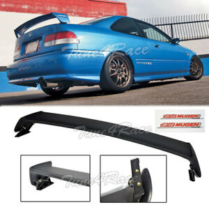 For 96 00 Honda Civic Mugen Style Trunk Wing Spoiler 2dr Coupe W Red Emblems