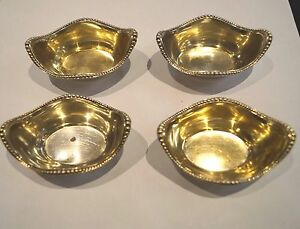 Antique Gorham A2432 Sterling Nut Dish Candy Bowls Salt Cellars Lot Of 4