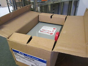 Eaton Fusible Safety Switch disconnect Dh321fgk 30a 240v 3p New Surplus