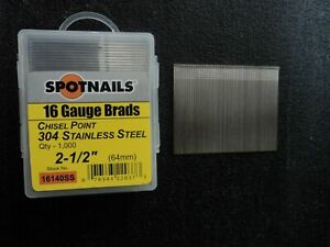 Spotnails 16140ss 16 Gauge 2 1 2 Stainless Steel Finish Nails 8 000