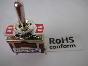 30 Heavy Duty 110v 240v 15a 20a on off on Momentary Metal Toggle Switch N701
