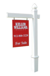 Essex Vinyl Real Estate Sign Post 5 Feet 47 In Arm