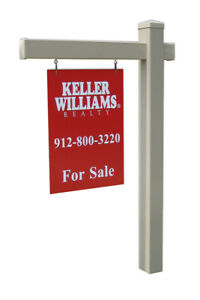 Hampshire Vinyl Real Estate Sign Post Khaki 5 Feet 36 In Arm