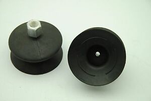 Lot Of 4 Pneumatic Suction Cups 3 1 2 Od