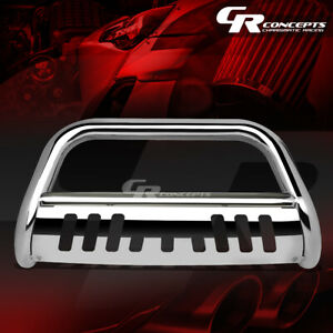 Chrome 3 Bull Bar Push Bumper Grille Grill Guard For 16 17 Toyota Tacoma Truck
