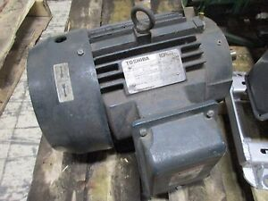 Toshiba Type Ikkh Motor Y752xdsb42a p 7 5hp 3500rpm 460v 9a 213tc Frame Used