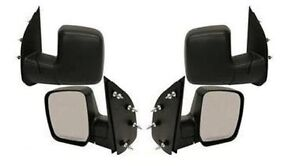 Pair Side Mirrors Lh Rh Ford Econoline Van 2008 2009 Sail Type Manual Folding