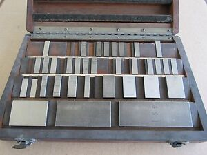 Starrett Webber Gage Block Set In Original Wood Box Incomplete Set 100 4in