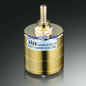 1xeizz Gold Plated Stereo Attenuator Volume Potentiometer 24 Steps Log 100k