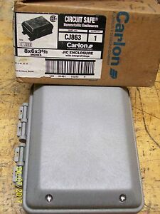 new Carlon Circuit Safe Hinged Jic Enclosure 8 X 6 X 3 5 8 Cj863