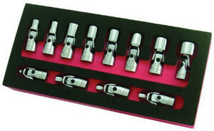 Astro Pneumatic 1 4 Dr Metric 12pc Flex Socket Set 7412
