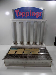 new Custom Made Ice Cream Toppings Display Drop In See Description And Pics