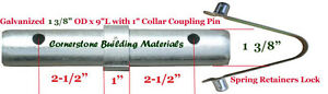 12 Scaffold Coupling Pin 1 3 8 od X 9 l With 1 Collar 12 Spring Retainer Cbm