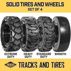 12 16 5 12x16 5 Flat proof Solid Rubber Skid Steer Tires Sd Hd Xd Or Smooth