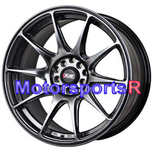 Xxr 527 17x7 5 40 Chromium Black Rims Wheels 5x114 3 03 Acura Rsx Tl Cl Type S
