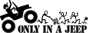 Jeep Funny Stick Family Vinyl Decal Sticker