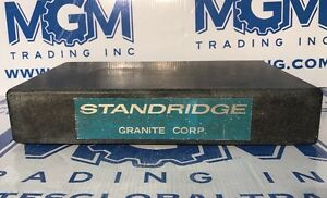 18 X 12 X 3 Standridge Granite Corporation Precision Inspection Surface Plate