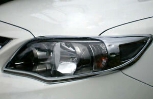 Abs Chrome Front Head Light Lamp Cover Trim For Toyota Corolla 2011 2012 2013