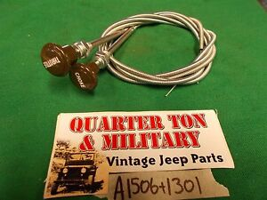 Jeep Willys Mb Gpw M38 M38a1 Green Choke And Throttle Cables