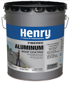 Henry 4 75 Roof Coating Gallon Aluminum Seal Leaks Repair Cracks Rv Mobile Home