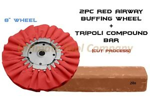 2pcs Buffing Wheel red Tripoli Polishing Compound Metal Scratch Chip Removal